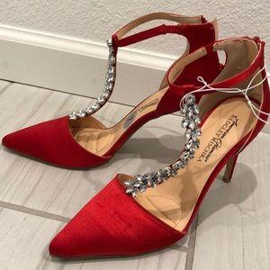 Red brand new Badgley Mischka heels